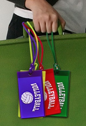 "8003 ""Volleyball"" Luggage Tag"