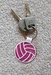 8004 Embroidered Volleyball Key Chain