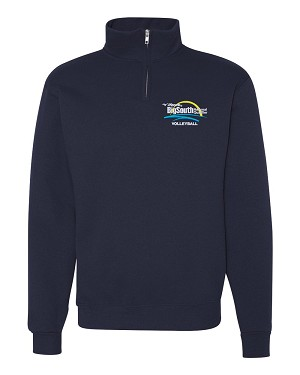 2019 Big South 1/4 Zip Cadet Collar Sweatshirt, Navy