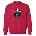 2019 Colorado Crossroads Crew Neck Sweatshirt, Vibrant Red