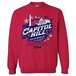 2019 Capitol Hill Classic Crew Neck Sweatshirt, Vibrant Red
