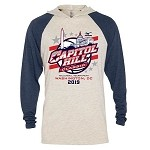 2019 Capitol Hill Classic Tri Blend Raglan Hoodie, Available in Oatmeal/Navy