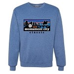 2019 Monument City Classic Crew Neck Sweatshirt Vintage Heather Blue
