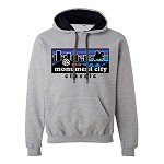 2019 Monument City Classic Hooded Sweatshirt with Contrast Hood, Athletic Grey