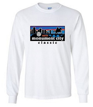 2019 Monument City Classic Long Sleeve White T-Shirt