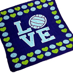 Love Volleyball Blanket