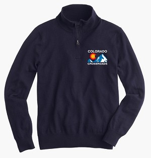 Colorado Crossroads Logo 1/4 Zip Sweatshirt - Navy